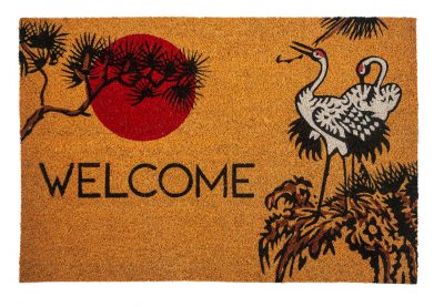 Victoria and Albert Museum Cranes Large Coir Doormat