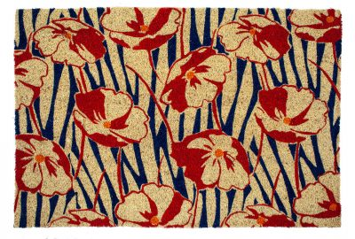 Victoria and Albert Museum Poppy Field Large Coir Doormat