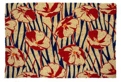 Victoria and Albert Museum Poppy Field Large Coir Doormat