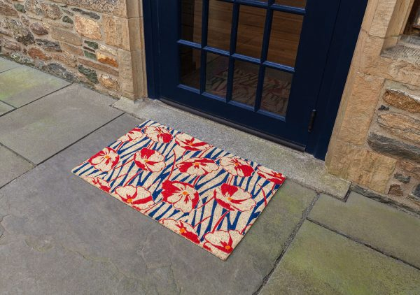 Victoria and Albert Museum Poppy Field Coir Doormat