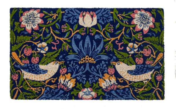 Victoria and Albert Museum Strawberry Thief Coir Doormat